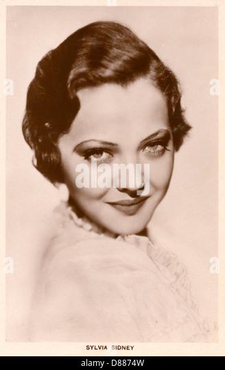 Sylvia Sidney Postcard - Stock Image