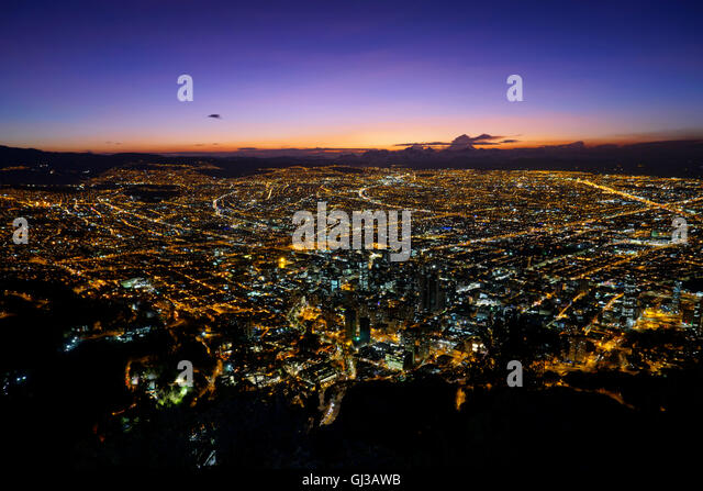 Sunset over Bogota, Colombia - Stock Image