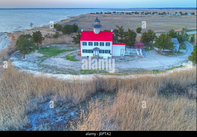 East Point Lighthouse Heislerville New Jersey - Stock Image