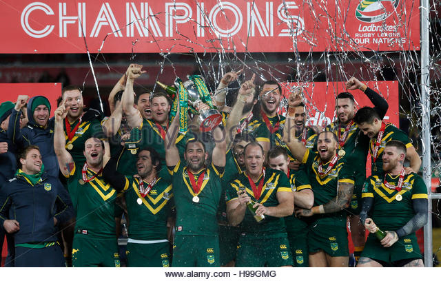 Rugby League Britain - Australia v New Zealand - 2016 Ladbrokes Four Nations Final - Anfield, Liverpool - 20/11/16 - Stock Image
