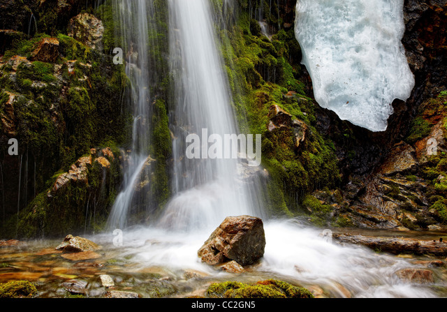 Waterfall close-up for wallpaper or backgrounds - Stock-Bilder