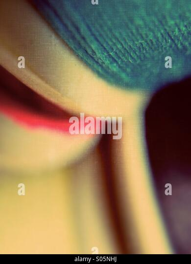 Close up of cotton bobbins - Stock Image