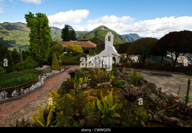 Beautiful park in Bogota, Colombia, South America - Stock Image