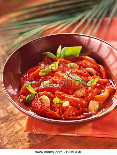 Frita algérienne (Pan-cooked peppers & tomatoes, Algeria) - Stock Image