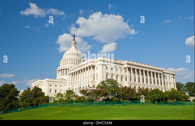The US Capitol in Washington D.C. - Stock Image