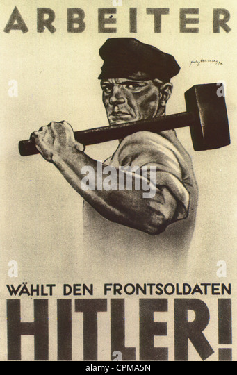 An election poster of the NSDAP, 1932 - Stock Image