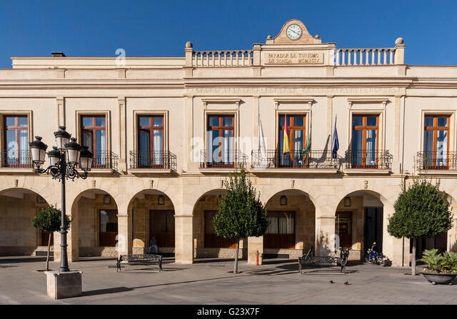 National Tourism Parador hotel Ronda, Plaza de Espana, Malaga province, Spain - Stock Image