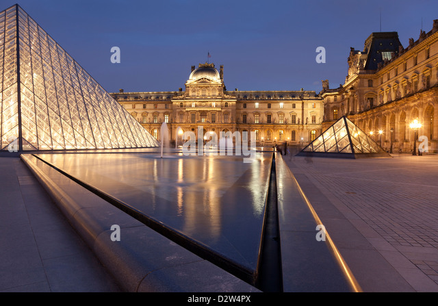 Louvre museum, Paris, Ile de France, France - Stock Image