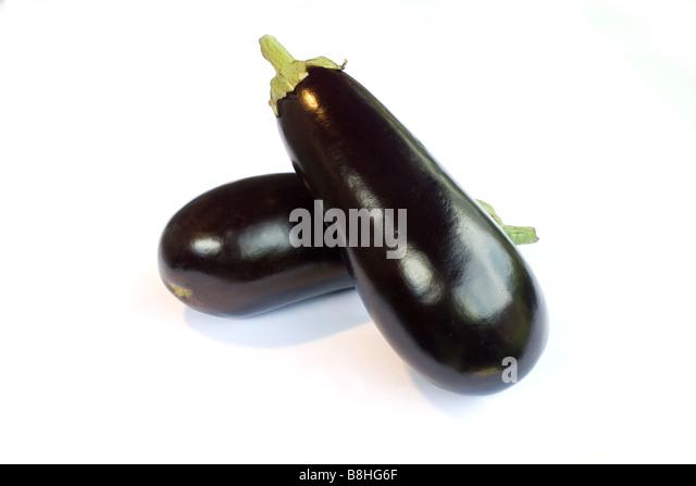 Fresh eggplant - Stock Image