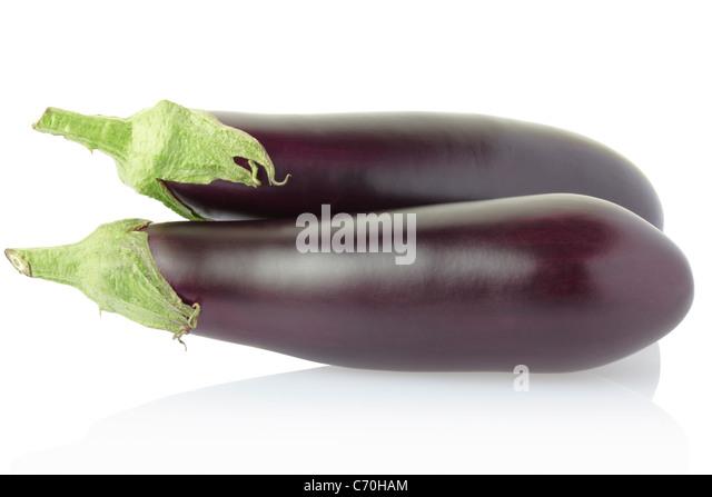 Aubergine eggplant - Stock Image