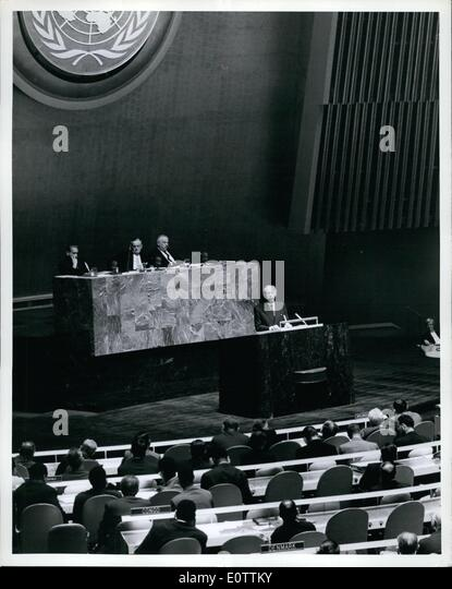 Sep. 09, 1960 - UN General Assembly Continues General Debate: The General Assembly continued general debate today. - Stock Image