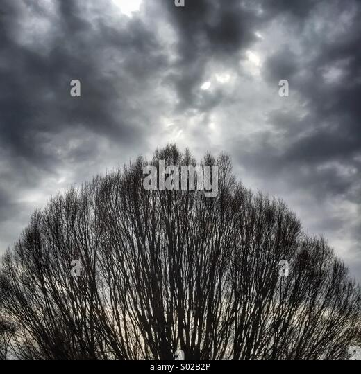 A cloudy day - Stock Image