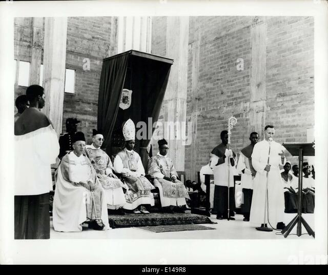 Apr. 17, 2012 - Africa Gets A new Bishop From America: Roman Catholics in the Accra Diocese of the Gold Coast, the - Stock-Bilder