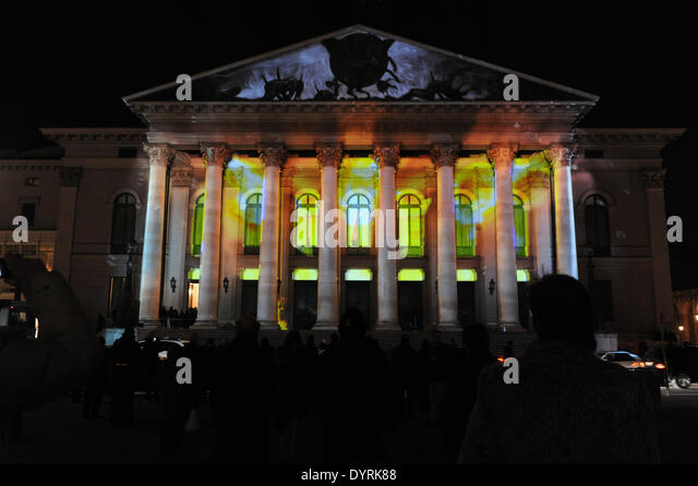 The premiere of 'Rheingold' at the Bavarian State Opera in Munich, 2012 - Stock Image