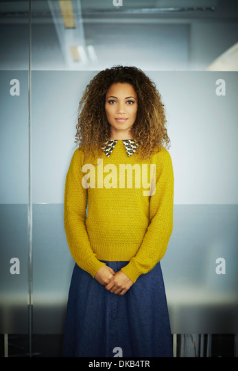Portrait of female office worker - Stock Image