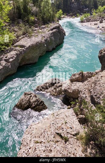 canyon landscape of Köprüçay Turkey - Stock Image