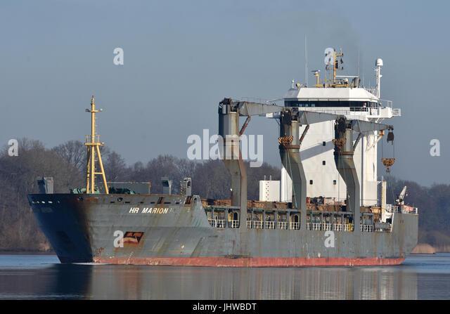 Geared General Cargo Vessel HR Marion - Stock Image