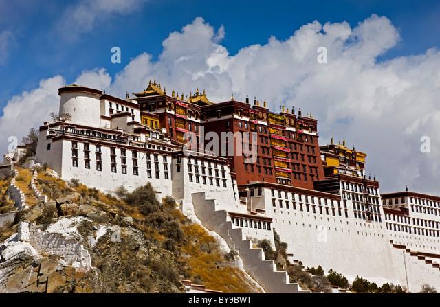 The Potala Palace Lhasa Tibet. JMH4589 - Stock Image