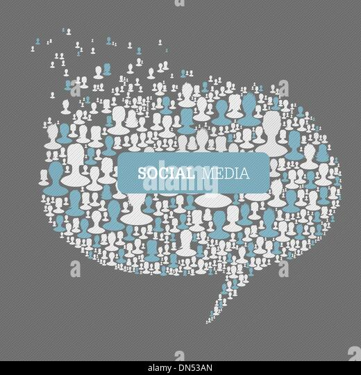 Social Media Bubble Speech Concept. Vector, EPS10 - Stock-Bilder