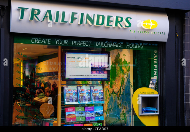 Trailfinders The Travel Experts, Cambridge, England, UK - Stock-Bilder
