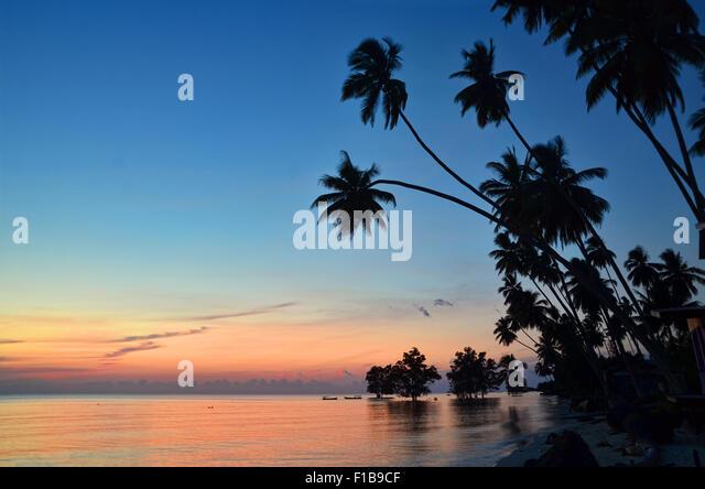 Early morning at Biduk-Biduk beach - Stock Image