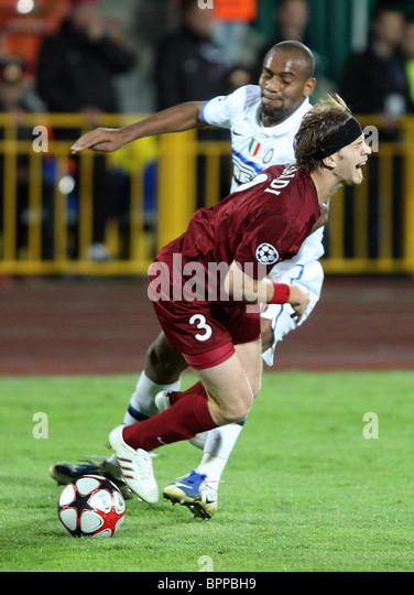 UEFA Champions League: Rubin Kazan 1 - 1 Inter Milan - Stock Image