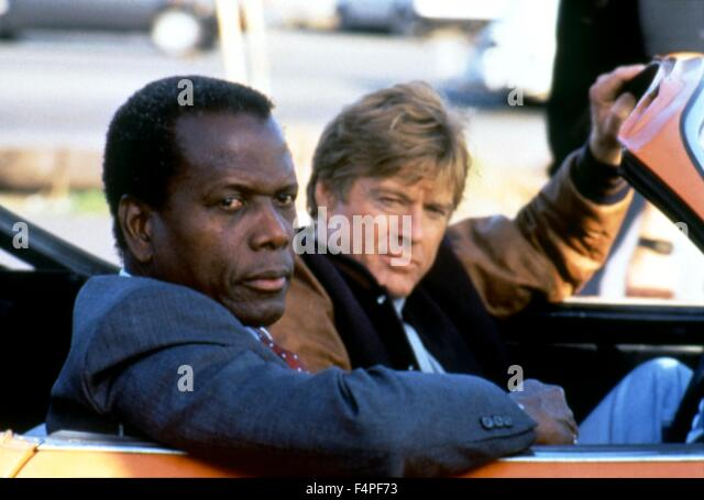 Sidney Poitier and Robert Redford / Sneakers / 1992, directed by Phil Alden Robinson - Stock Image