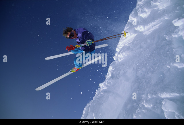 Archival photo of a skier circa approximately 1988. - Stock-Bilder