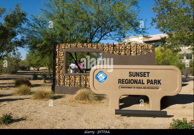 Sunset National Park Henderson Nevada USA - Stock Image