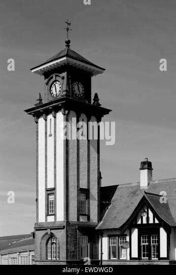 Clocktower of Wemyss Bay Railway Station Argyll Scotland - Stock Image