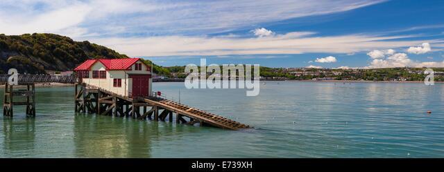 Mumbles Pier, Gower, Swansea, Wales, United Kingdom, Europe - Stock Image