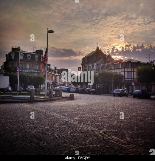 Street in residential area - Stock Image