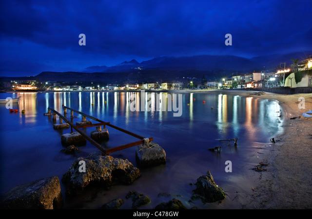 Stoupa, a beautiful seaside village in Western ('Messenian') Mani, Peloponnese, Greece - Stock Image