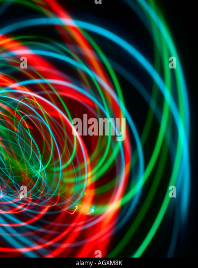 Red, green and blue sound or light waves - Stock-Bilder