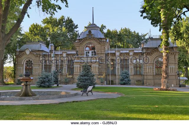 The Palace of the Romanovs in Tashkent was built in 1891 by architects V. S. Getselman and A. L. Benua for the Grand - Stock Image