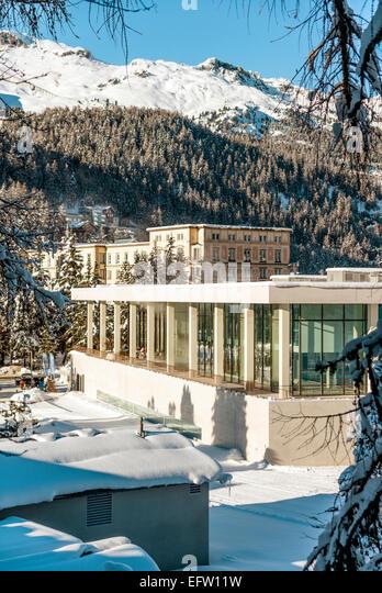 Ovavera Pool, a new Spa and Sport Center, St.Moritz Bad, Grisons, Switzerland.   Ovavera das neue Hallenbad und - Stock-Bilder