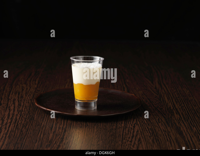 Still life with tropical dessert - Stock Image