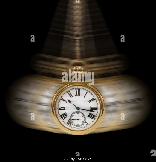 Concept image depicting Time and Motion on a black background - Stock-Bilder