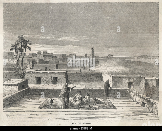 Niger Agades 1850s - Stock Image