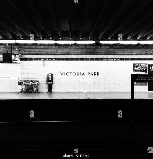 Toronto Victoria Park Subway Station - Stock Image