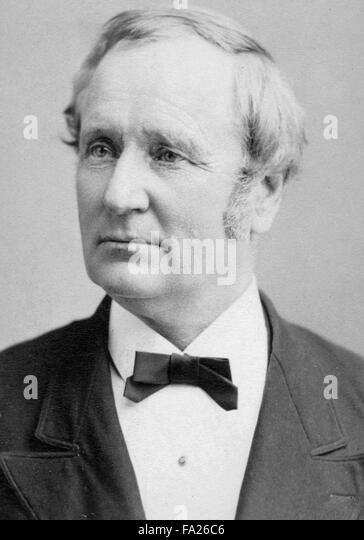 Thomas Andrews Hendricks, American politician and the 21st Vice President of the United States (1885). - Stock Image