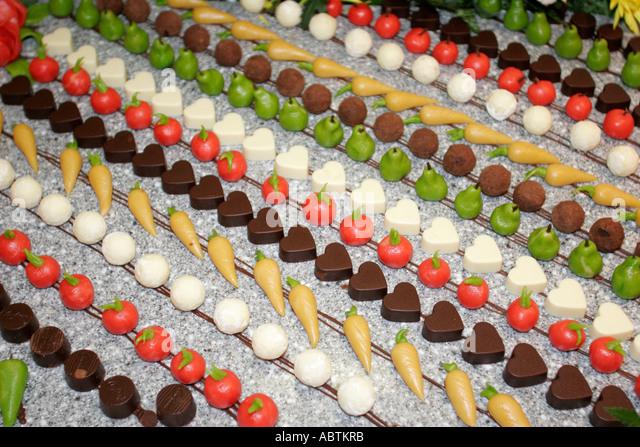 Puerto Rico Atlantic Ocean Holland America Line ms Noordam Lido Restaurant Chocolate Extravaganza dessert event - Stock Image