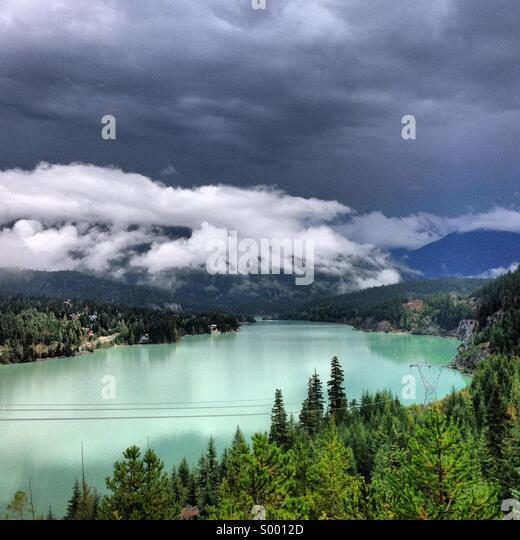 Green Lake, Whistler, Canada - Stock Image