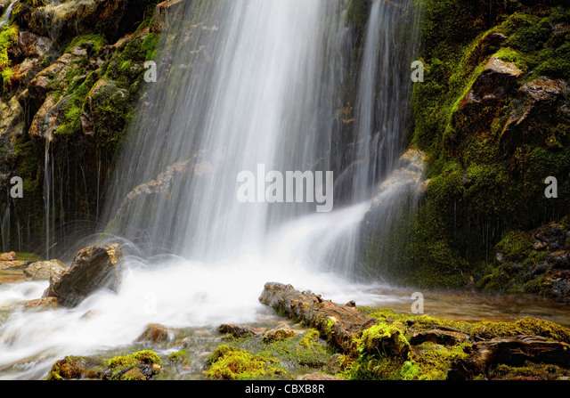 Waterfall close-up for wallpaper or backgrounds - Stock Image