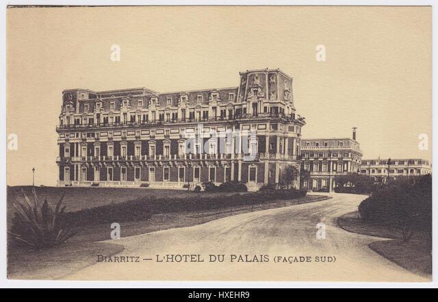 Hotel du Palais, Biarritz, France - Stock Image
