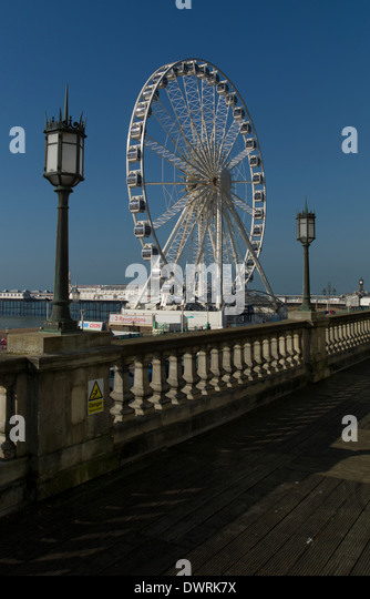 The Brighton Wheel on a spring day - Stock Image
