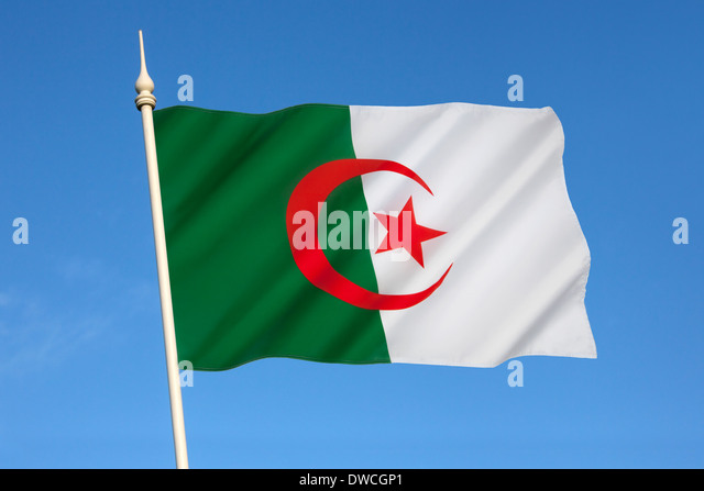 Flag of Algeria - Stock Image