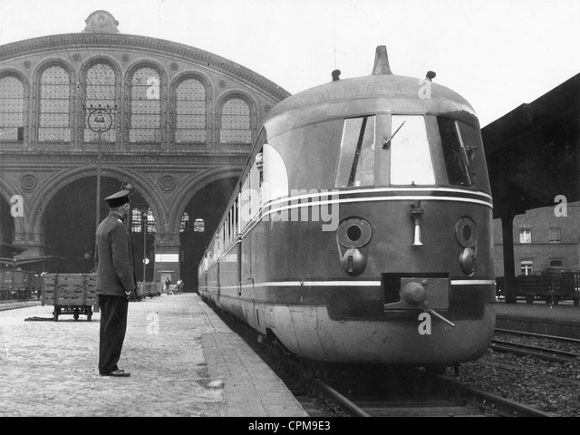 Express railcar of the Reichsbahn, 1930s - Stock Image