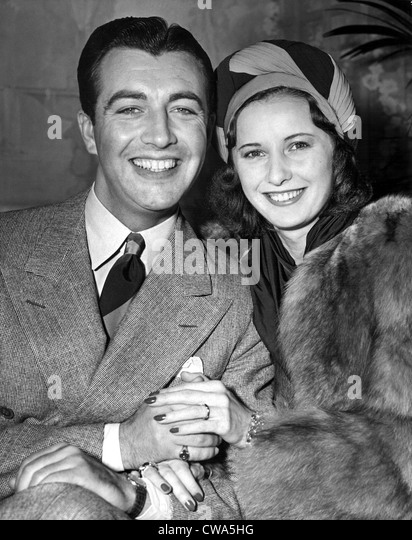 BARBARA STANWYCK AND ROBERT TAYLOR WED IN SURPRISE ELOPEMENT  BEVERLY HILLS, CALIF., 5/14/39.. Courtesy: CSU Archives - Stock-Bilder
