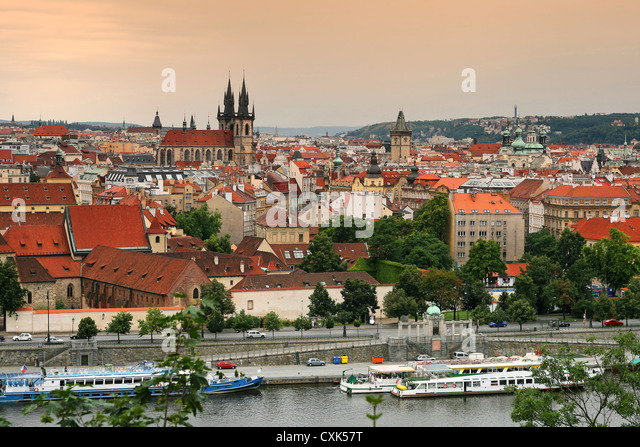 view on the Prague - Stock Image